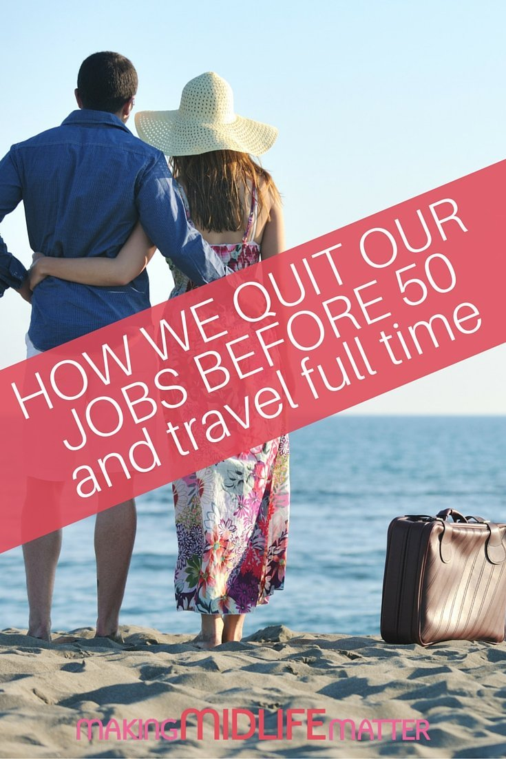 "One of our most frequently asked questions as full-time travelers, particularly as we both quit our corporate jobs before we were 50, is ""Did you win the lottery?"". The truth is a lot more mundane. We saved regularly over a long period of time while working at our corporate jobs. Most importantly, we drastically reduced our expenses in order to change our lives. How did we do it?"