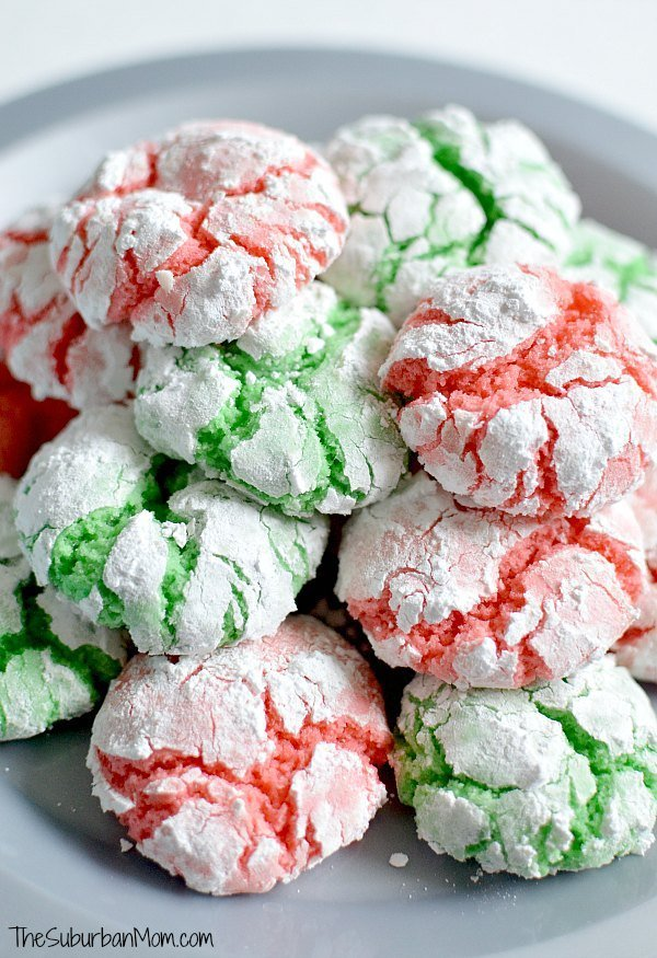 The ultimate cake mix cookies make homemade Christmas Crinkle Cookies in under 30 minutes. Perfect for last minute a last-minute cookie