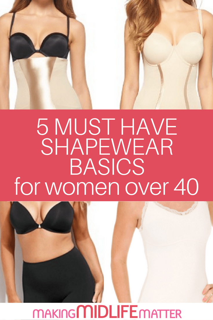 Here are five shapewear basics great for women over 40.