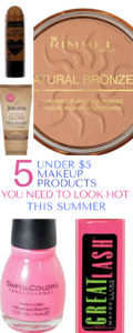 This is a list of 5 under $5 makeup products is THE BEST! Stick to your budget and save money. Grab your summer essentials now.