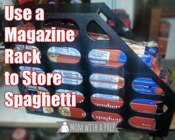 This magazine rack is great for storing spaghetti.
