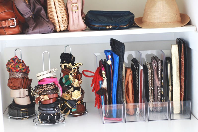 These magazine holders are great for organizing wallets.