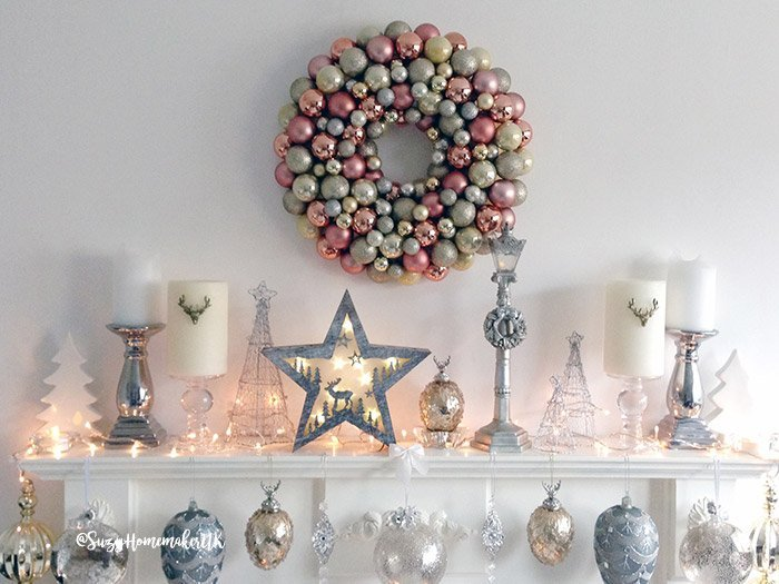 Beautiful & Easy To DIY Bauble Wreath For Christmas