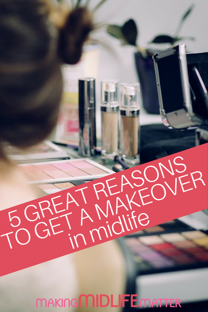 I've only had someone show me how to apply makeup once in my life, like 20 years ago. Here are 5 great reasons why you should get a makeover in midlife. #makeover #makeup #midlife