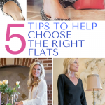 I had no problem culling out my high heals from my wardrobe but I wasn't ready to give up on style. Check out these 5 tips to help you choose the right flats for your minimalist wardrobe that can take you from day to night effortlessly. #style #shoes #fashion