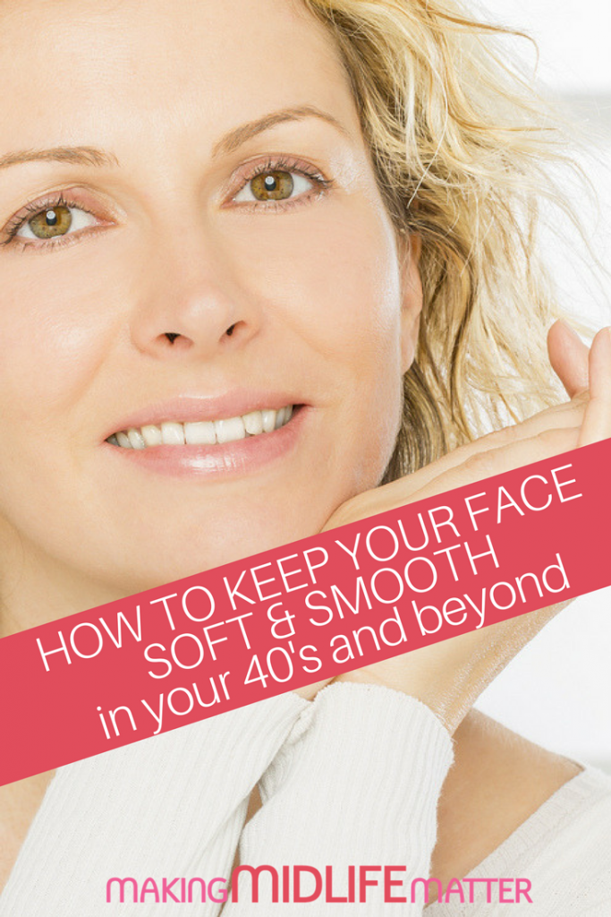 Want to keep your face soft & smooth in your 40's and beyond? It's easy when you use the right products. Here's a recommended skin care routine for 40 year olds that are easy on the wallet. #skincare #midlife #moneysaving
