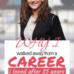 After 25 years, I decided to leave a career I loved. It was difficult for most to understand. Was it fear or jealousy? I'm not sure but I do know there was no turning back. Here is why I did it. #careerchange #reinvention #quitjob