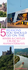 Our most recent adventure was the Rivers and Castles Cruise with AmaWaterways. This is a 7-night cruise aboard the luxurious AmaDante ship that started in Nuremberg and took us down the Main, Rhine and Mosel Rivers, stopping at beautiful towns along the way in Germany ending in Luxembourg.