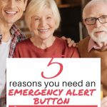 Do you have a parent or an elderly relative that lives alone? Here are 5 reasons you need to get an emergency alert button for them. #healthylifestyle #seniors #agingparents