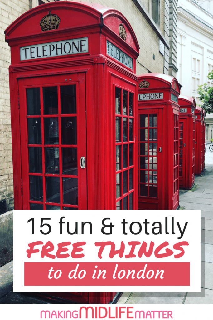 Going to London ? It can be expensive but it doesn't have to be! Check out this guide of 15 fun & totally free things to do in London. London Travel Guide, Free Things To Do in London, What to do in London, Where to Go in London, Best Places to visit in London, London bucket list, London travel, Best things to see in London #travel #freetravel #budget #london