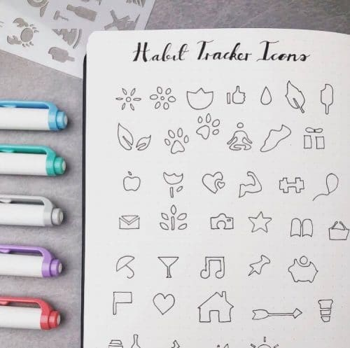 Get inspired and slay your New Year's resolutions with these bullet journal habit tracker layout ideas for 2019. These amazing collections will help you change your life. Whether you want to improve your eating habits, get fit or save money, a bullet journal habit tracker is the perfect tool for success. #bulletjournal #gethealthy #bujo #newyearsresolutions