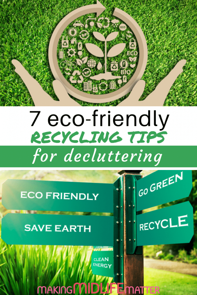 Decluttering doesn't mean you have to sacrifice the environment to get your home under control. It takes a little extra effort, but you can keep your home clean and well-ordered with a pro-environmental strategy. You'll also benefit from a healthier living space. Check out these 7 eco-friendly tips for recycling. #decluttering #recycling #gogreen