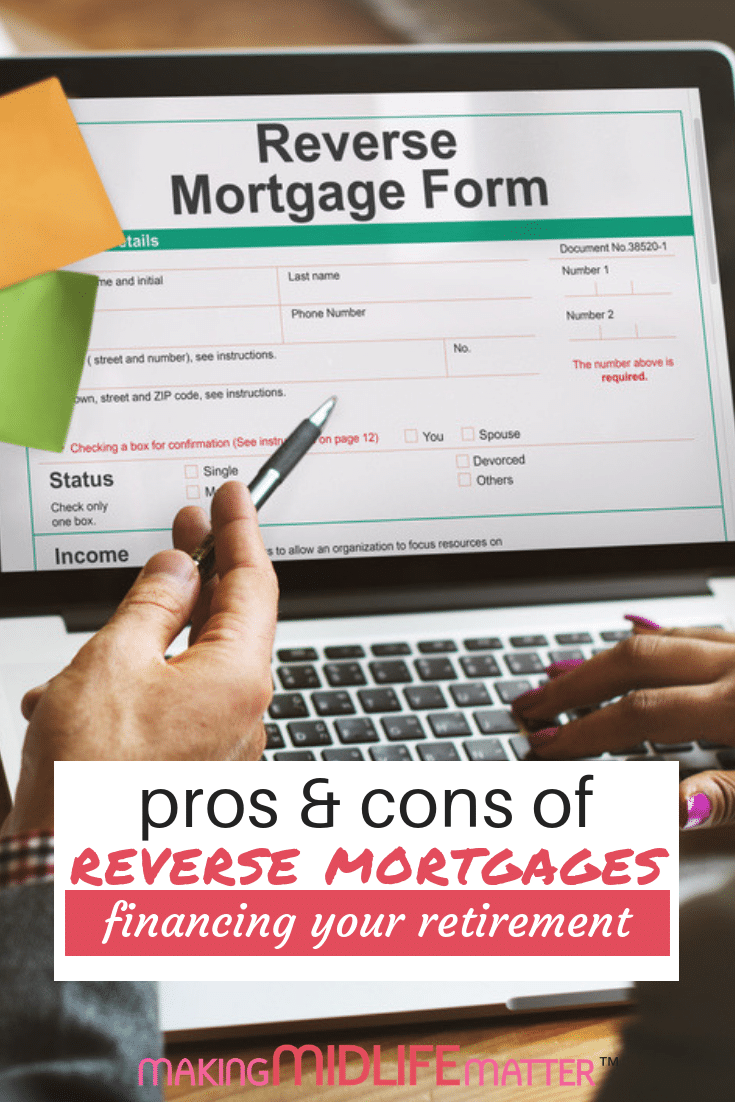 "Have you seen advertising for ""reverse mortgages"" and wondered if getting one is a good idea? Or wondered what a reverse mortgage even is in the first place? Here is a quick guide to the pros and cons of getting a reverse mortgage. #financing #reversemortgage #homeequity"