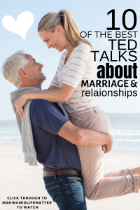 Click through to watch the best TED Talks about marriage advice and relationships tips. Whether newlywed or 25 year celebrant, young or old, we can all benefit from a new perspective on love and learn how to have a truly happy marriage, even with conflicts. These TED talks are seriously amazing. #marriagegoals #happymarriage #marriageadvice