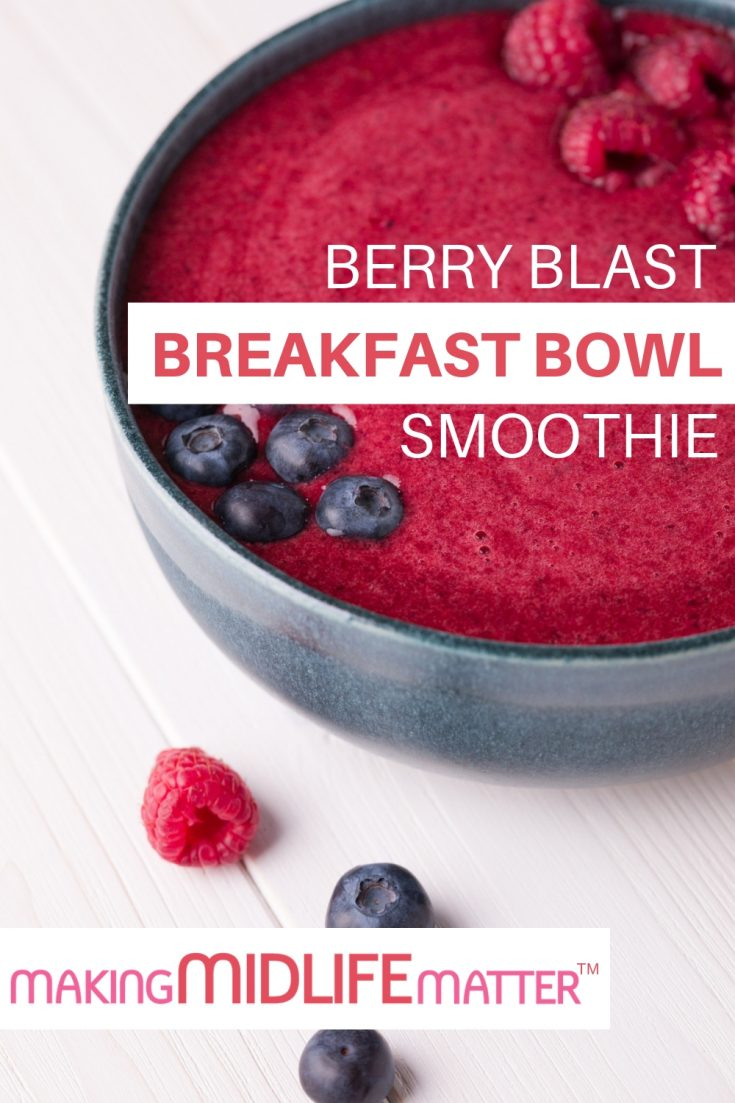 The Berry Blast Smoothie Bowl Recipe is sweet and refreshing start to the day, packed with protein and antioxidants and incredibly easy to make. To ensure the Smoothie is thick enough, make sure that you use frozen instead of fresh berries. #healthyeating #breakfast #recipe