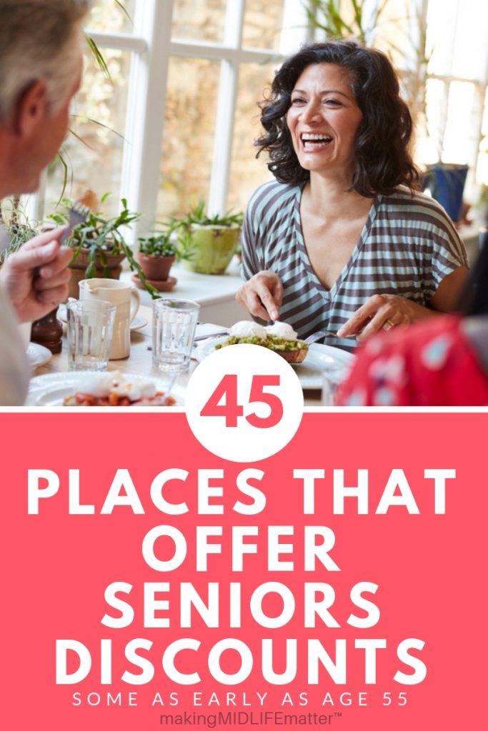 Here is a list of places that offer senior discounts in the United States. Save money at stores and restaurants you shop at. Some start their senior discount at 55! Take advantage of the savings now! #savemoney #budget #discounts
