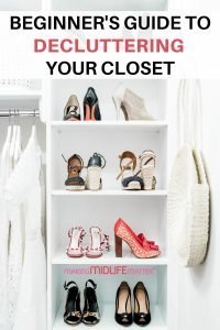 Closet full of stuff and still nothing to wear? You need to do a major decluttering of your closet and get organized. If the idea of a more minimalist wardrobe appeals to you, check out this step by step guide. #declutter #capsulewardrobe #minimalist