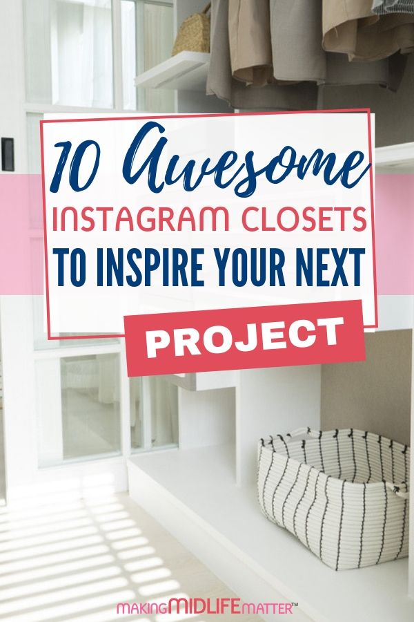 You access them everyday so why not make them pretty to look at? These Instagram images will inspire you to include closet makeovers in your next home renovation project. #closetmakeover #closetorganization #homerenovation