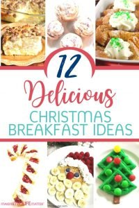Christmas morning can be a little nuts. Whether it is just the two of you or you are hosting a full house, check out these delicious but easy Christmas Breakfast Ideas. Everything from oats to pancakes to casseroles plus recipes for the kids and one with alcohol for the grown ups! #Christmas #ChristmasBreakfast #Breakfast #BreakfastRecipes