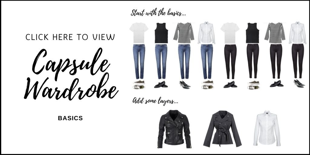 If you are ready to embrace a capsule wardrobe, this list of French inspired wardrobe pieces is the perfect place to start. Elegant and simple, these choices have you covered from day to night, casual to dressy. This 30 piece capsule wardrobe includes shoes and accessories. Everything you need to create tons of fabulous outfits. #capsulewardrobe #minimalist #fashion