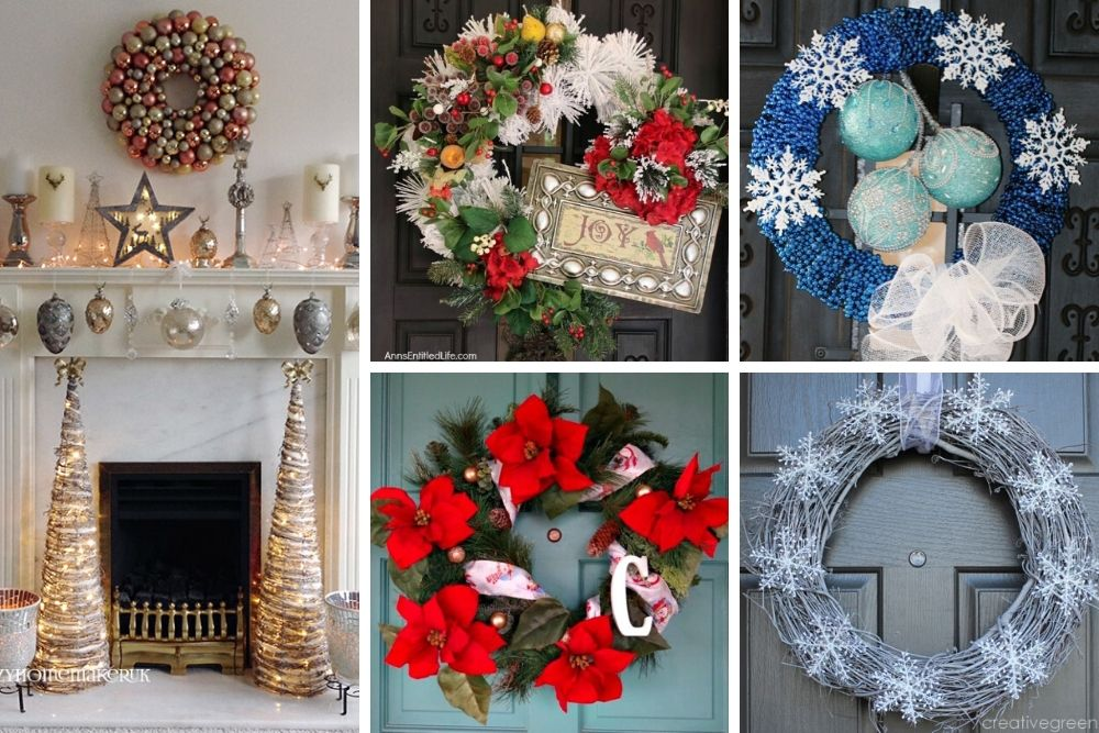 10 DIY Dollar Store Christmas Wreaths