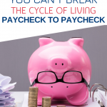 Are you stressed and tired of living paycheck to paycheck? See if you are guilty of any of these 5 bad money habits and learn how to finally break free of the cycle. #debt #finances #money