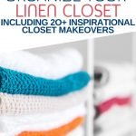 If your linen closet is constantly a cluttered mess, I've got you covered. These hacks will show you how to organize your linen closet and keep it that way. Click through for 20+ images of inspirational linen closet reveals too. #organize #declutter #linenclosetmakeover