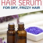 Instead of spending tons of money on hair serums full of water and chemicals, try making your own at home with olive oil and herbs. Not only will you get an excellent healing moisturizer that leaves your hair soft and smoothes out frizzies but you can also use it as a natural skincare product.