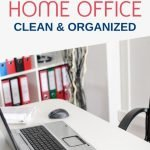 Setting up your home office and being able to keep it clean and organized is not rocket science. But it does take some muscle and brain power to keep it that way. Here are some tips to keep your office at home tidy and productive.