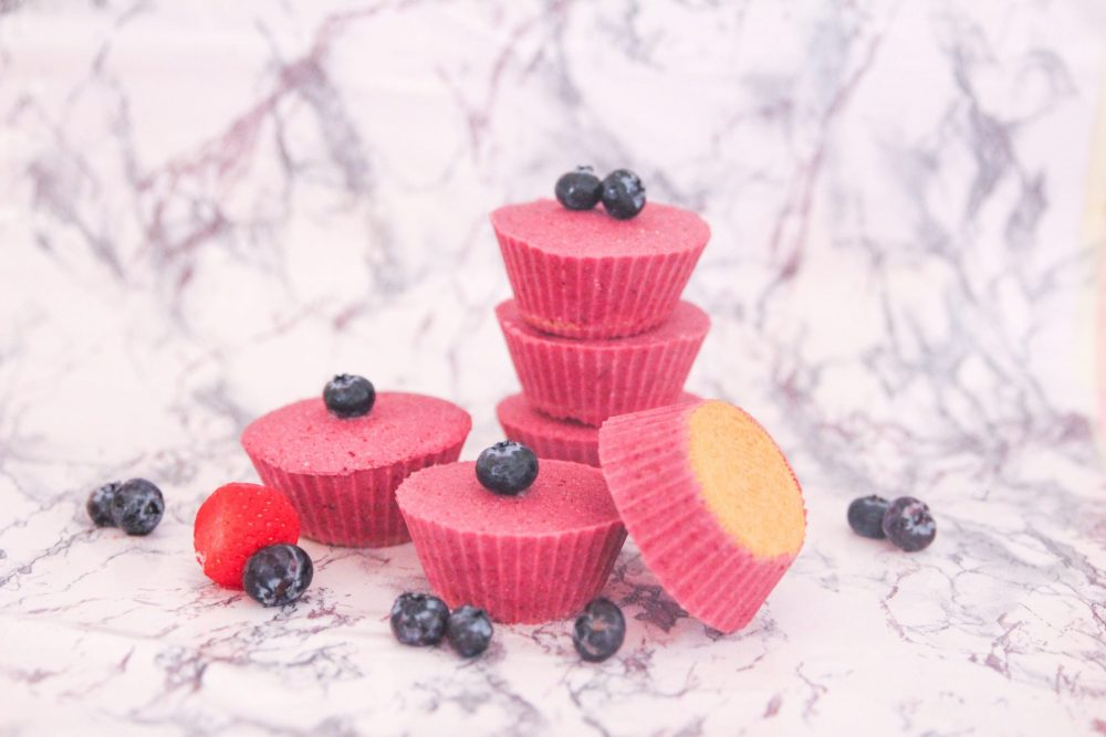 Sink your teeth into one of these frozen yogurt cups! A Greek yogurt and fruit cup with a cookie bottom. A fruity cheesecake flavored frozen yogurt bite that is bursting with flavor!