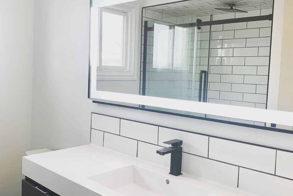 This was a total gut job but I am oh so pleased with the results. Here are my tips for remodelling your bathroom that will save you time and get you the fabulous oasis you are looking for.