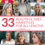Whether it is short and sassy, a mid-length bob, long layers with lots of texture, natural curls or braids, there are lots of flattering grey hairstyles and we wanted to share just some of our favourites.